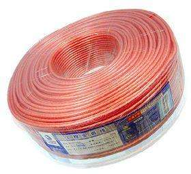 Speaker Wire Cable Manufacture Transparent Pvc Jacket 100m Roll Cable Wire For Speaker