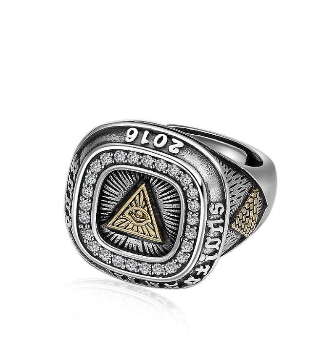 Adjustable Ring 925 Sterling Silver Jewelry Masonic Mens Signet Rings