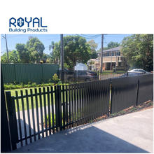 Residential commercial metal powder coated house security privacy slat aluminum 3d fence panels