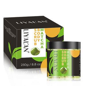 OEM LIYALAN Private Label 100% All Natural Organic Green Tea Exfoliating Moisturizing Matcha Body Scrub