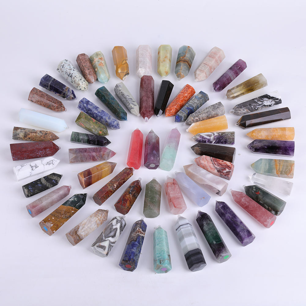 Wholesale Various natural crystal rose quartz crystals healing stones amethyst crystal wand point