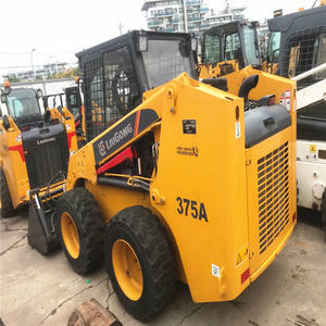Good price LiuGong 1 ton New mini loader 375A Skid Steer Loader with attachments for sale