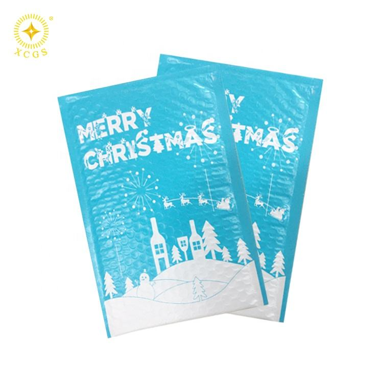Poly Bubble Mailer Buon <span class=keywords><strong>Natale</strong></span> 6x10 Pollici Buste Imbottite #0 Bubble Rigato Mailer Poli Guarnizione di Buon sacchetti di Bolla di <span class=keywords><strong>natale</strong></span>