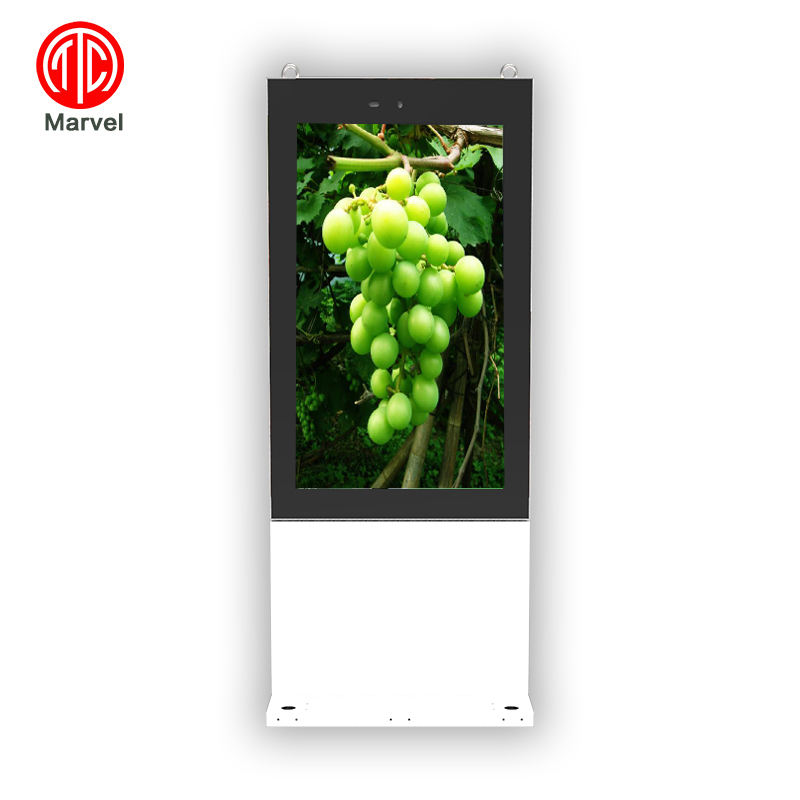 Outdoor 55 &quot;chiosco touch screen <span class=keywords><strong>lcd</strong></span> digital signage giocatore annuncio