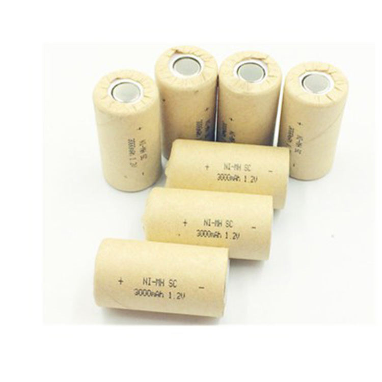High power 1.2v 3000mah sub c nimh battery nimh sc3000 1.2v battery