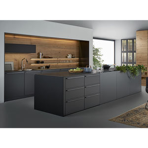 German Modern Kitchen Furniture Flat Pack Matte Finish Lacquer Moden Kitchen Cabinets
