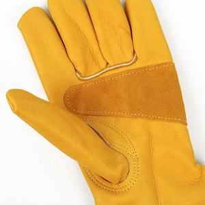 Cheap leather hand protection engineering farming mechanics safety working gloves