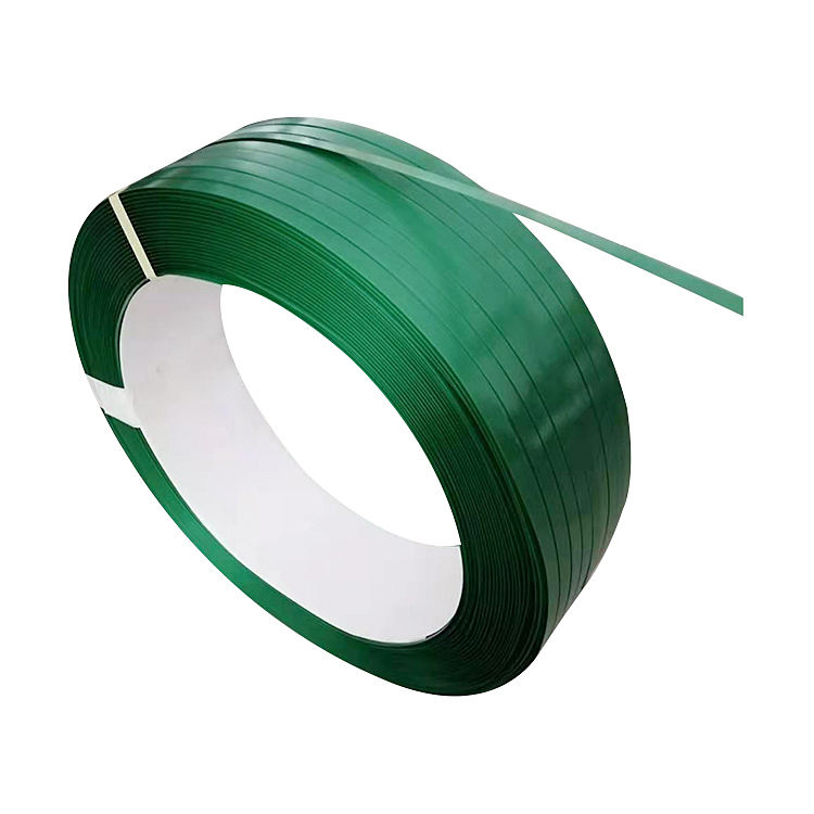 Factory supply high tenacity green translucent PET packaging belt strapping band
