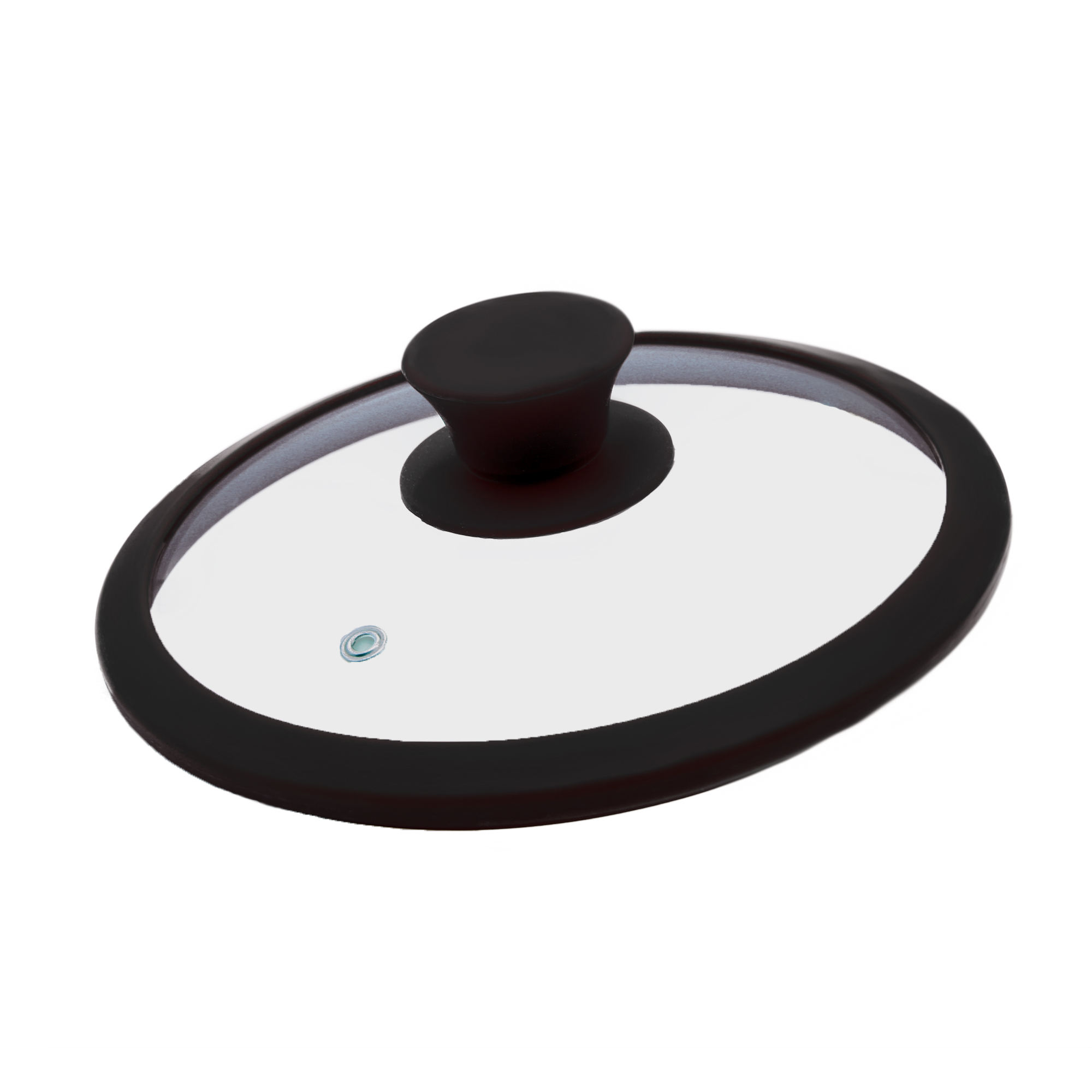 20cm Frying Pan Glass Lid with Silicone Rim Knob FDA LFGB