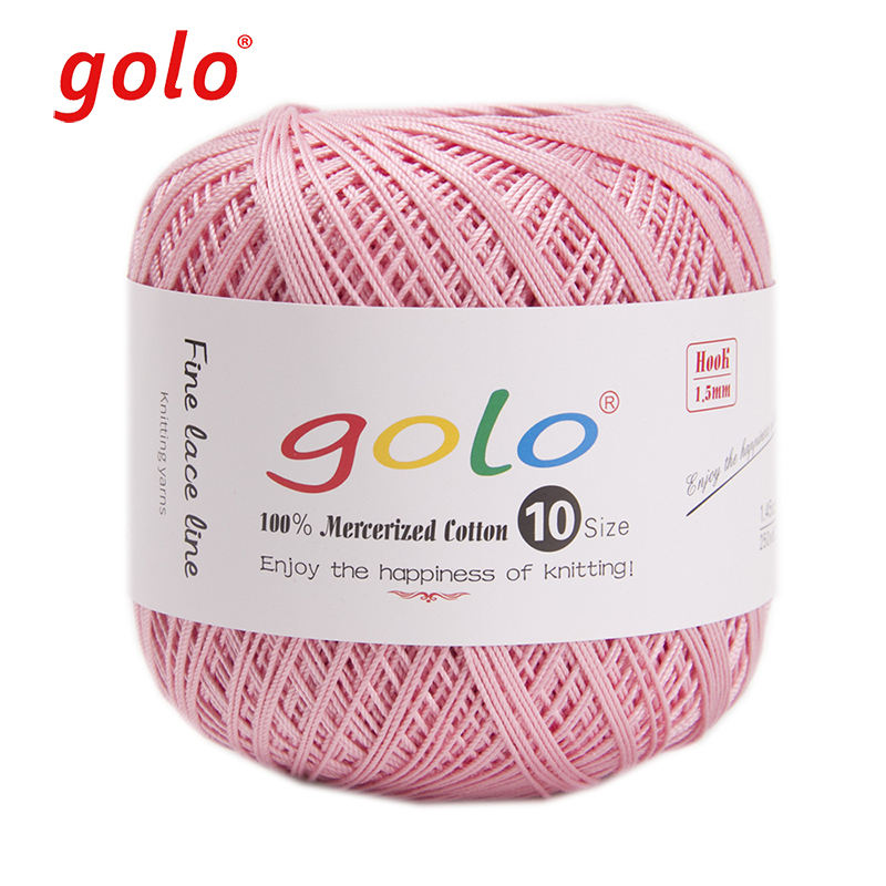 golo Crochet Thread Size 10 for Hand Knitting 100% cotton Crochet yarn Lace yarn ball