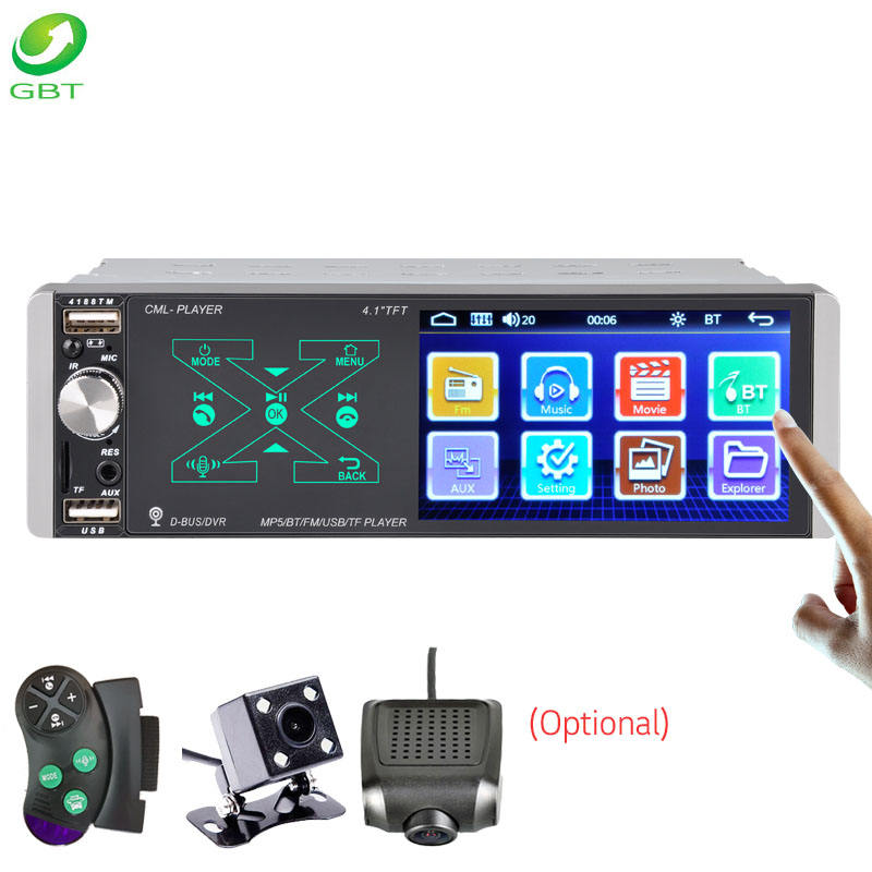 Universal capacitive screen Intelligent AI voice mirrorlink USB FM SD AUX Bluetooth car mp5 car digital video player