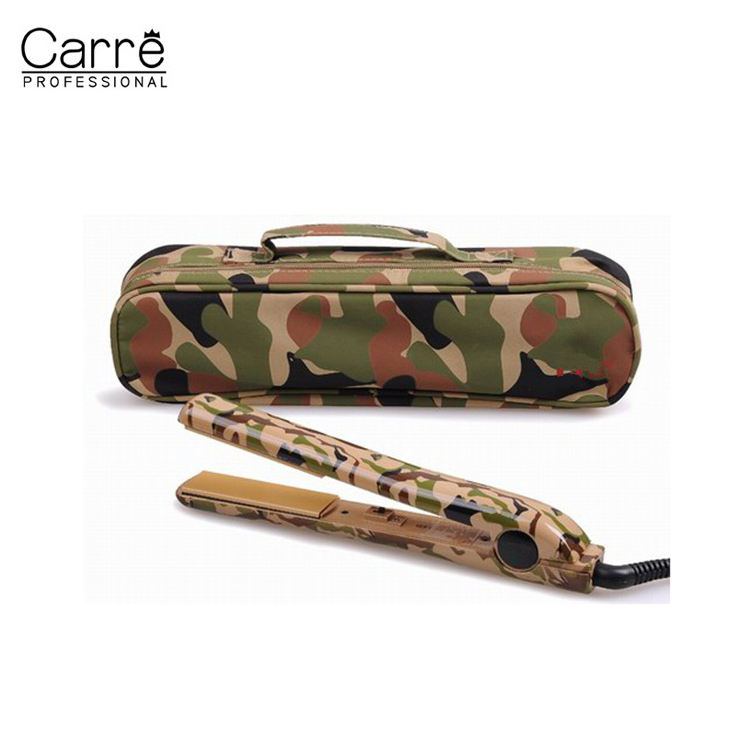 Carre OEM Camouflage Heatproof Hair Beauty Flatenning Iron Curling Iron Travel Bag
