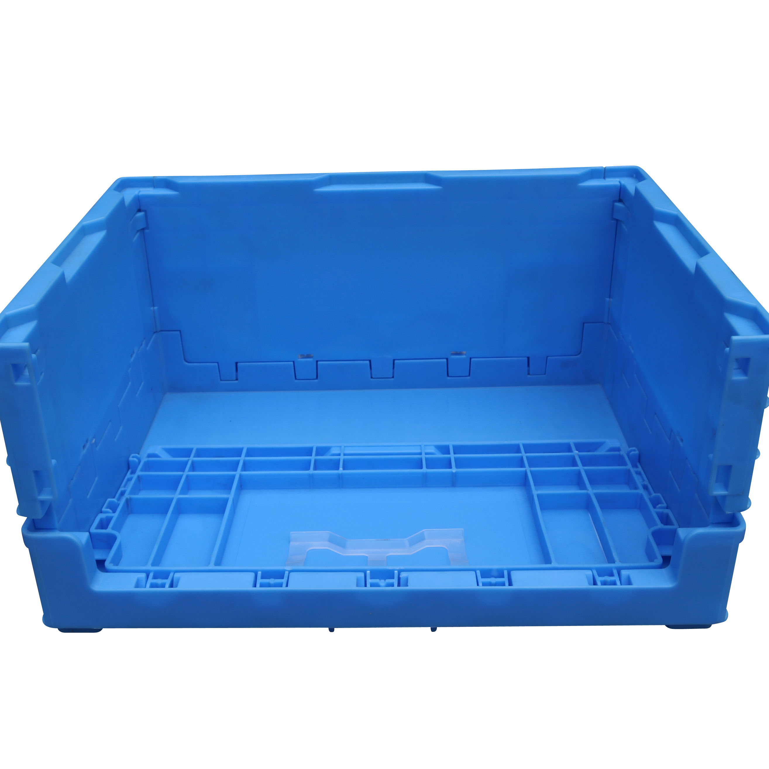 JOIN Attached Lid Solid Folding Crates Collapsible Turnover Container plastic collapsible Moving Box