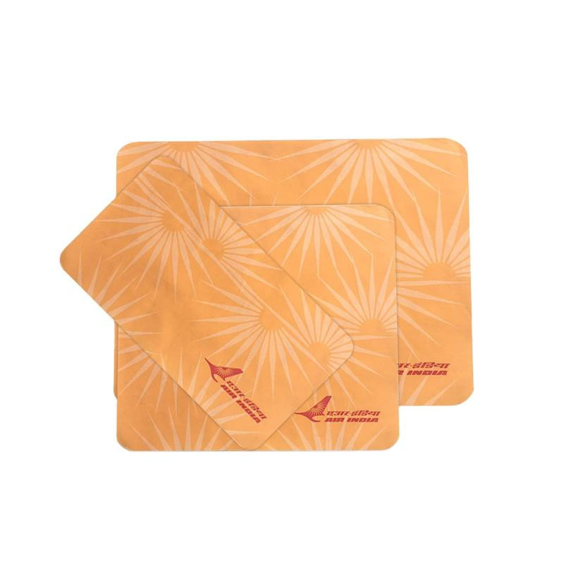 Airline anti slip serving paper tray mat for India