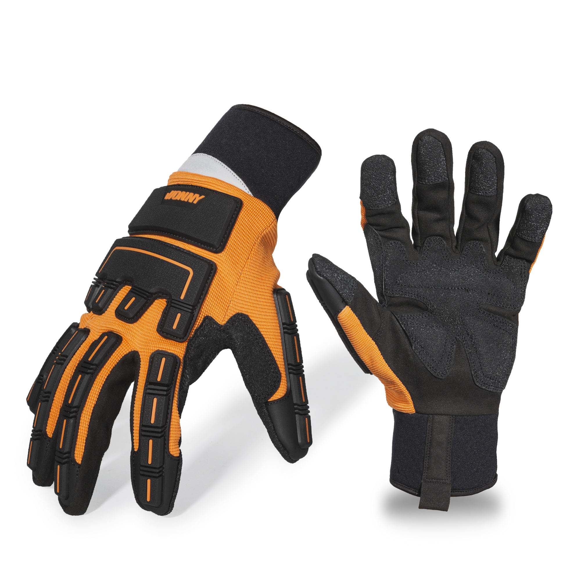 heavy duty mechanical cut resistant high visible gloves