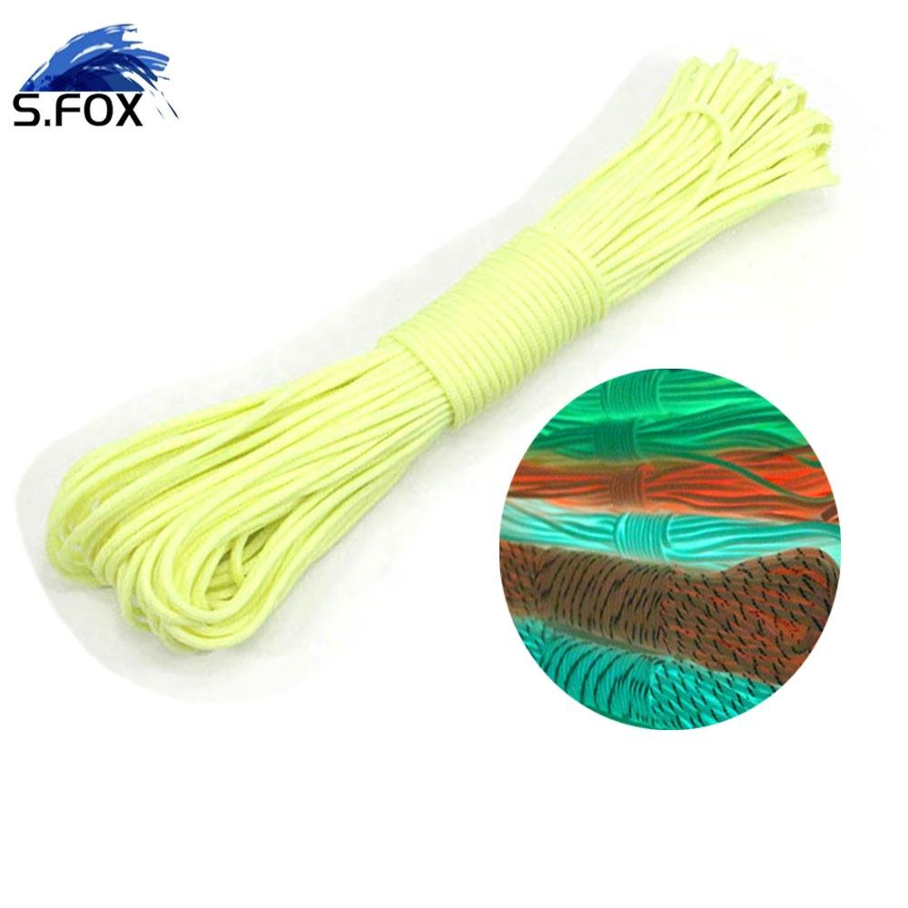 Glow in the Dark 328Ft Parachute 550 Rope Type III 7 Core Strand Buckle Paracord Bracelet 4 Colors Pick Outdoor Camp Travel