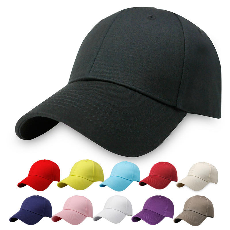 baseball caps in sports men women hat 100% cotton 6 panel plain sports custom cap hat gorras sombreros
