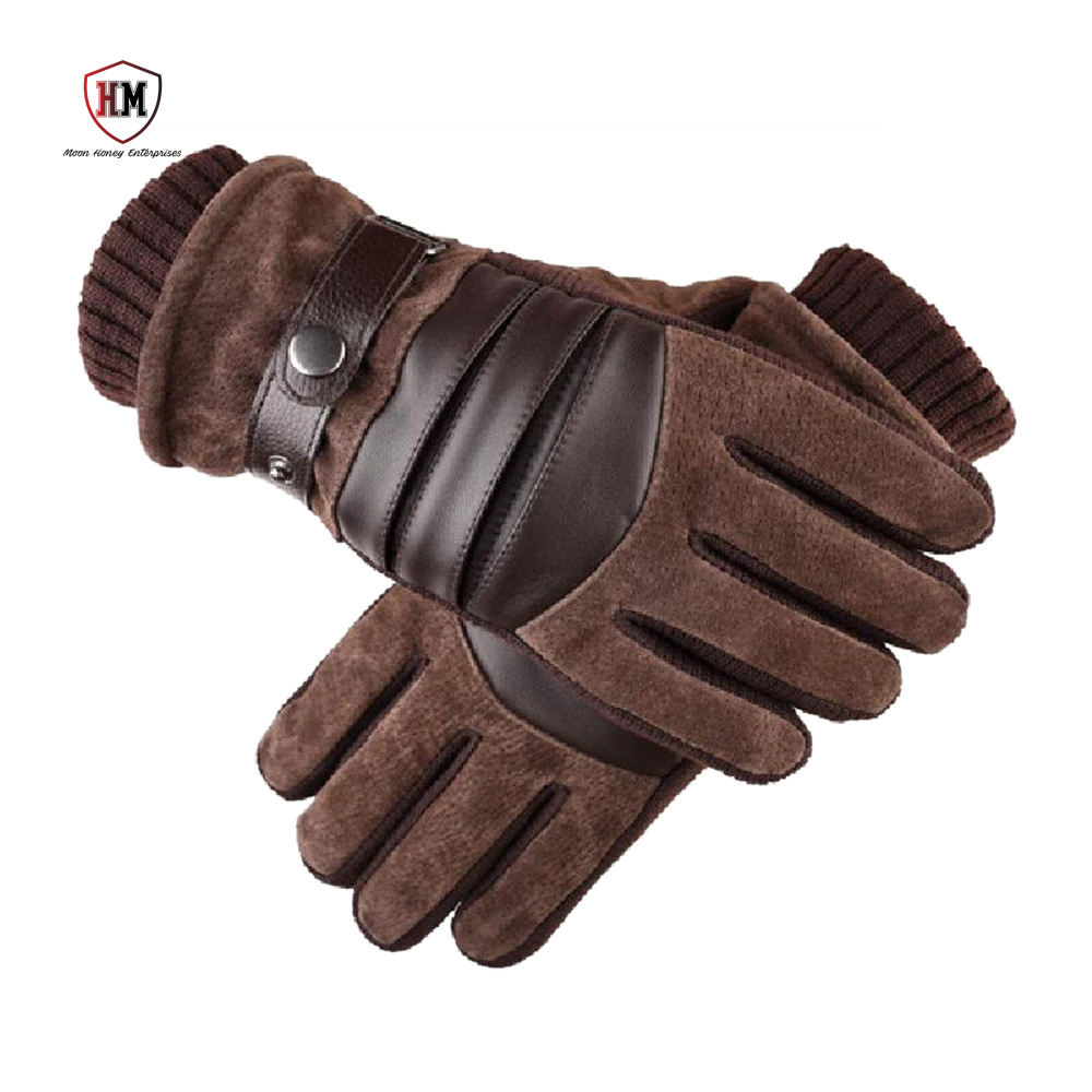 Winter gloves for mobile phone screen autumn and winter warm wool cashmere solid gloves