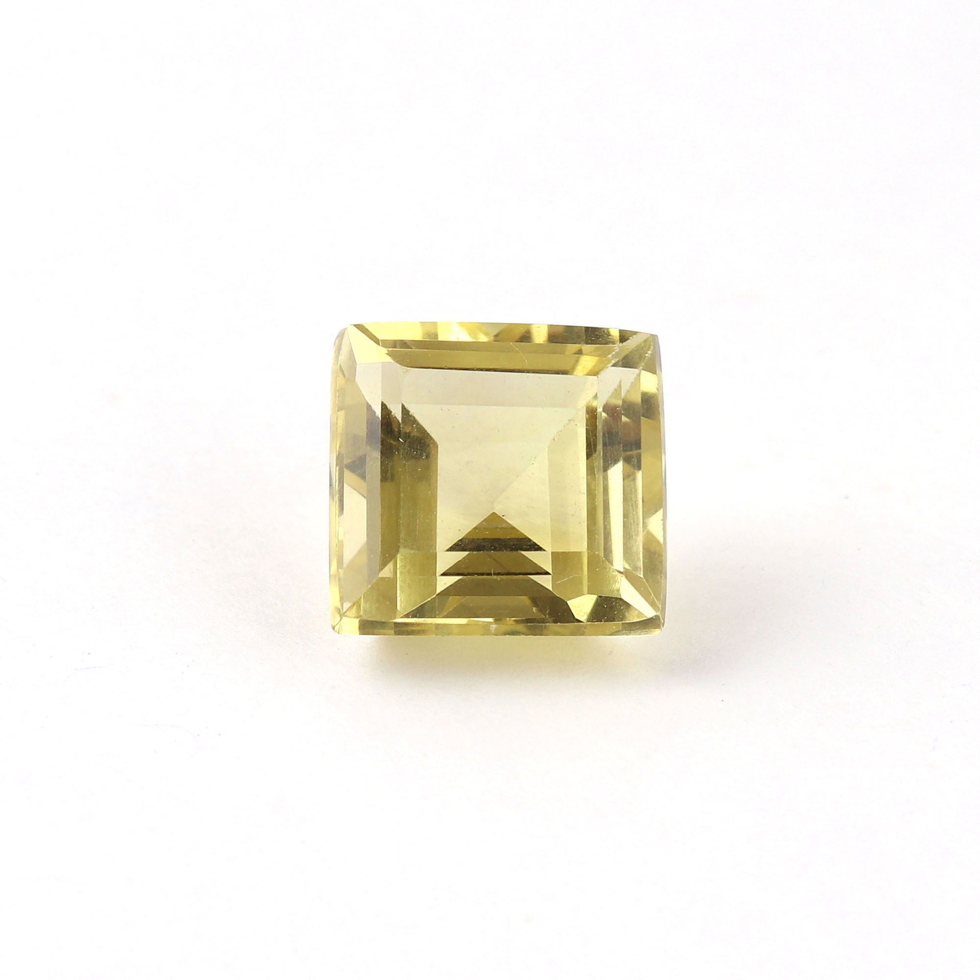 6. Cts. Natural lemon Faceted square Shape Loose Gemstone, Top Quality lemon Loose Gemstone, For Making Jewelry, 10 MM