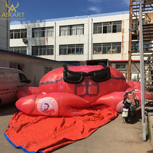 Giant custom inflatable red crab/granchio seafood balloon for sale