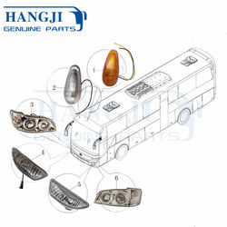 China Bus Spare Parts LED Head Lamp Front Fog Lights for Yutong Bus ZK6122HL