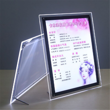 Bulk Crystal Booth Led Picture Display Table Acrylic Menu Photo Frame