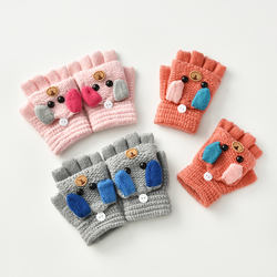 2020 Winter Kids Cashmere Gloves Custom Children Warm Gloves