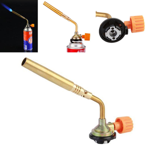 Butane Burner Welding Gas Torch Outdoor Camping Picnic BBQ Brazing Gas Torch Soldering Heat Gun for Welding Equipment