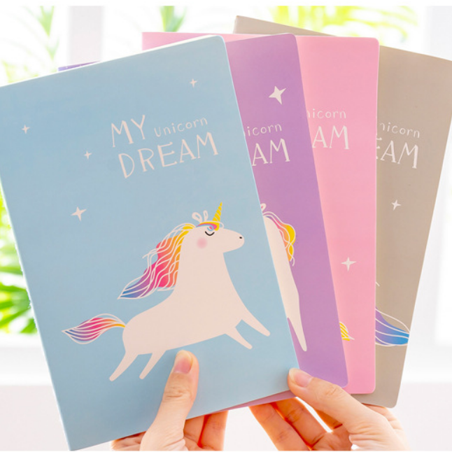 Fancy notebook unicorn diary book for learning stationery notepad