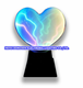 Plasma multicolor heart The lightning heart