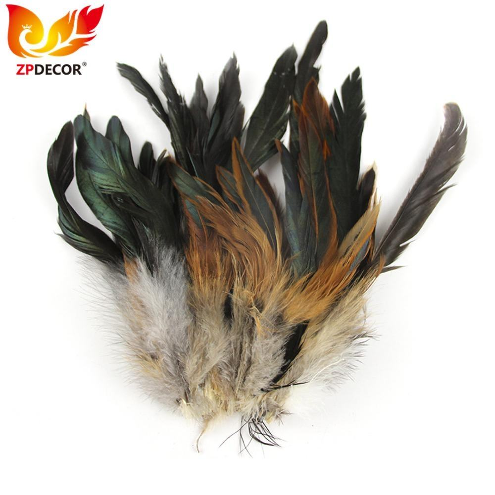 ZPDECOR Wholesale 15-20 cm Natural Rooster Coque Schlappen Feathers for Fashion Feather Cape and Shoulders