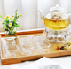 Tea Set 800ml Heat Resistant High Borosilicate Glass Tea Set Water Pot Pitcher With Filter