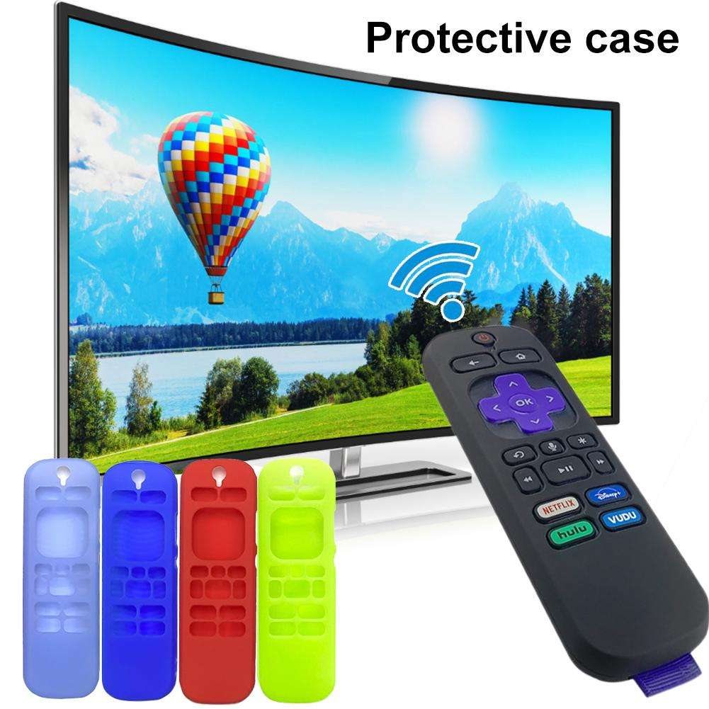 Soft Silicone Protective Case Remote Cases For Roku 3600R Remote Control Shockproof Protector Cover Remote Control Cover Case