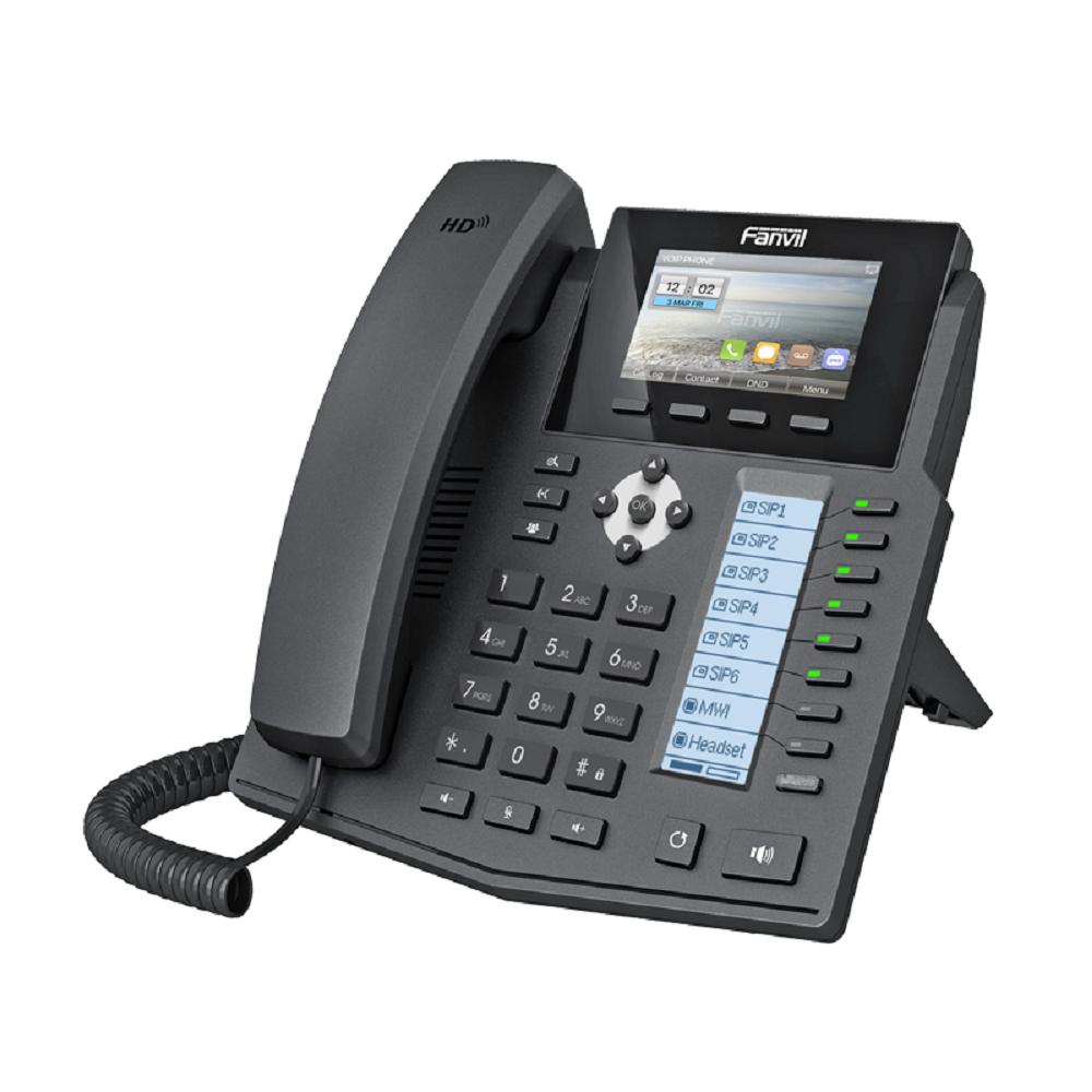 دعم BT و USB دونغل رخيصة Fanvil سلك الهاتف X5S Voip IP الهاتف مع 6 Sip خطوط