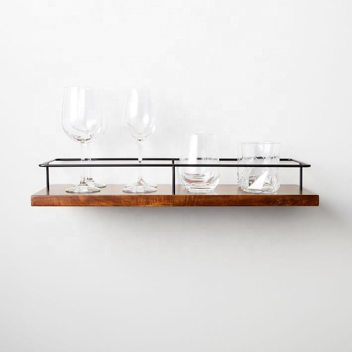 SWT Floating Wall Mounted Shelf Outline Wooden Wall Shelf