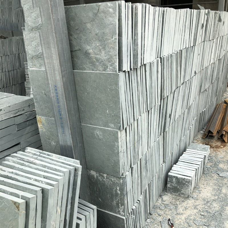 Decorative cultural stone veneer natural wall cladding stone green slate