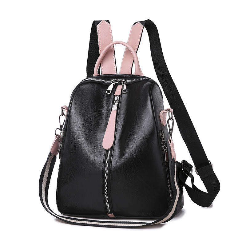 High Quality Japan and South Korea Style Women Simple Backpack Girls PU Leather backpack Wholesale