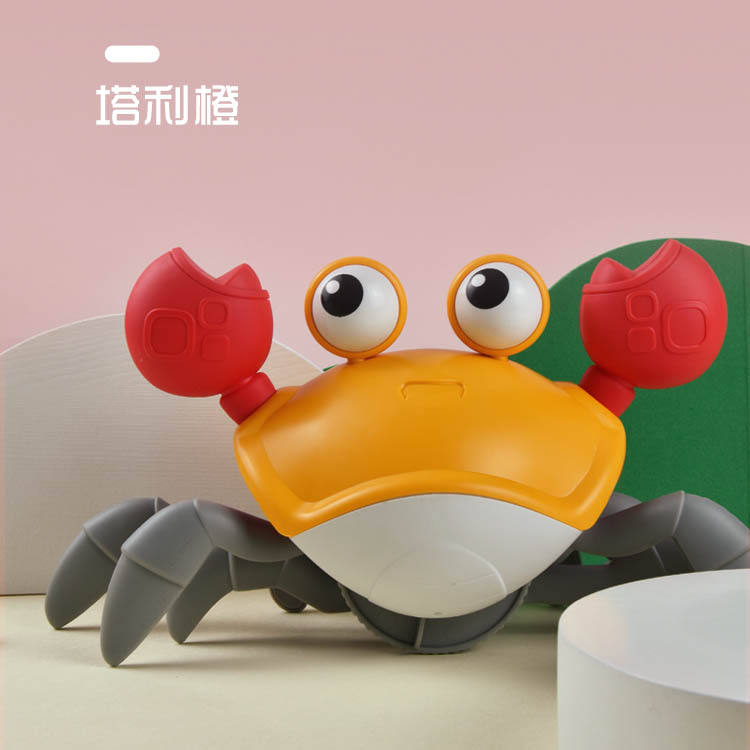 Hot Sale Summer Plastic Play Toys Cute Swimming Crab Toy For Kids