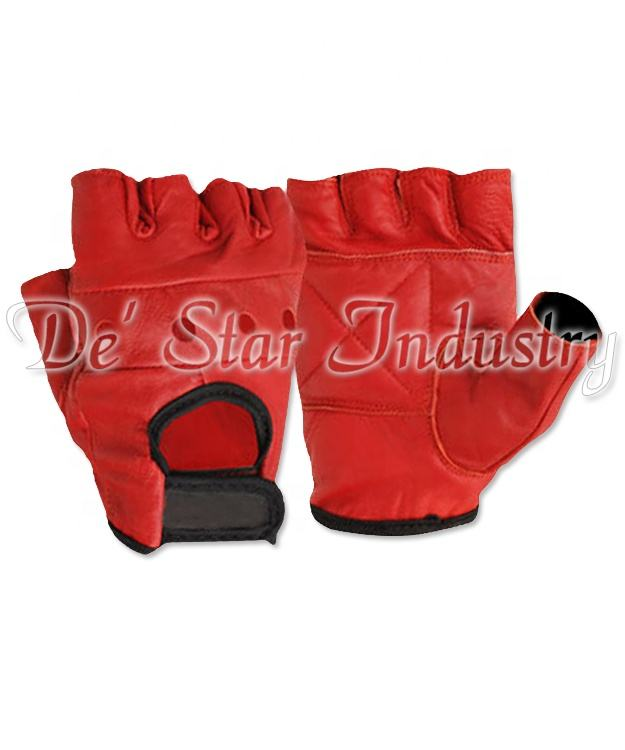 Summer cut piece leather sports cycling glove