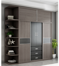 Bedroom Furniture Modern Wooden 4 Door Wardrobe