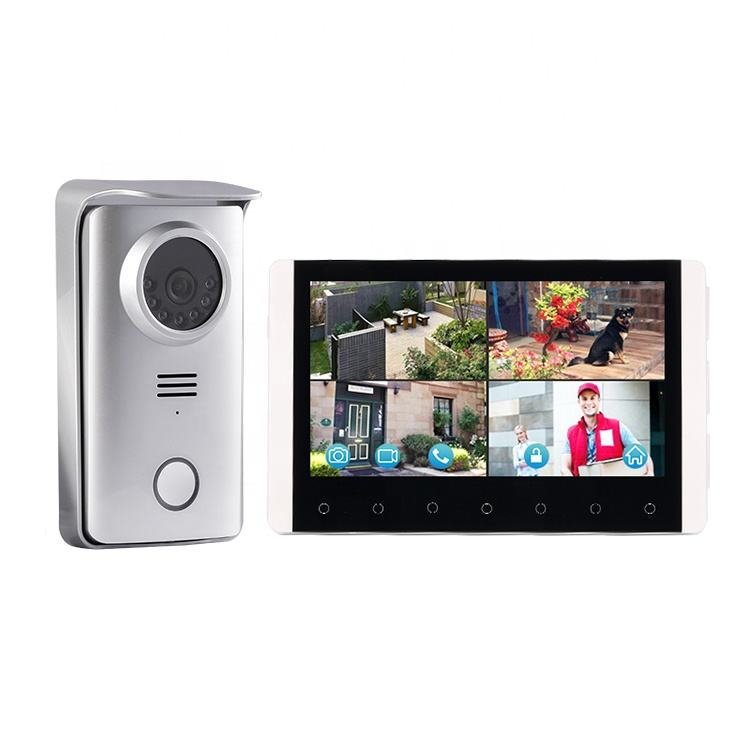 Nieuwe 2.4G Wireless Touch Panel 7 Inch Monitor Video Deurbel Intercom Systeem