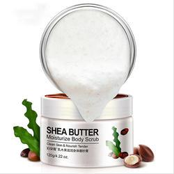 In Stock Private Label Organic Natural Anti Cellulite Exfoliator moisturizing hydrating whitening Shea Butter Milk Body Scrub