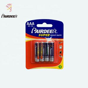 Pairdeer 320mAh r03p r03 battery um-4 size aaa um4 1.5v 1.5 v pvc carbon zinc dry alkaline battery for flashlights