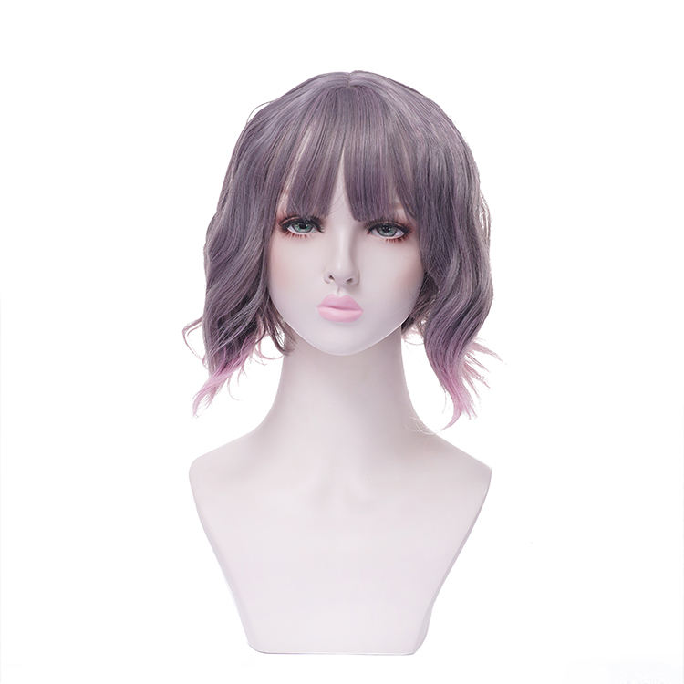 Wholesale Fashion Style 25CM Short Women Cheap Afro Curly Synthetic Wig