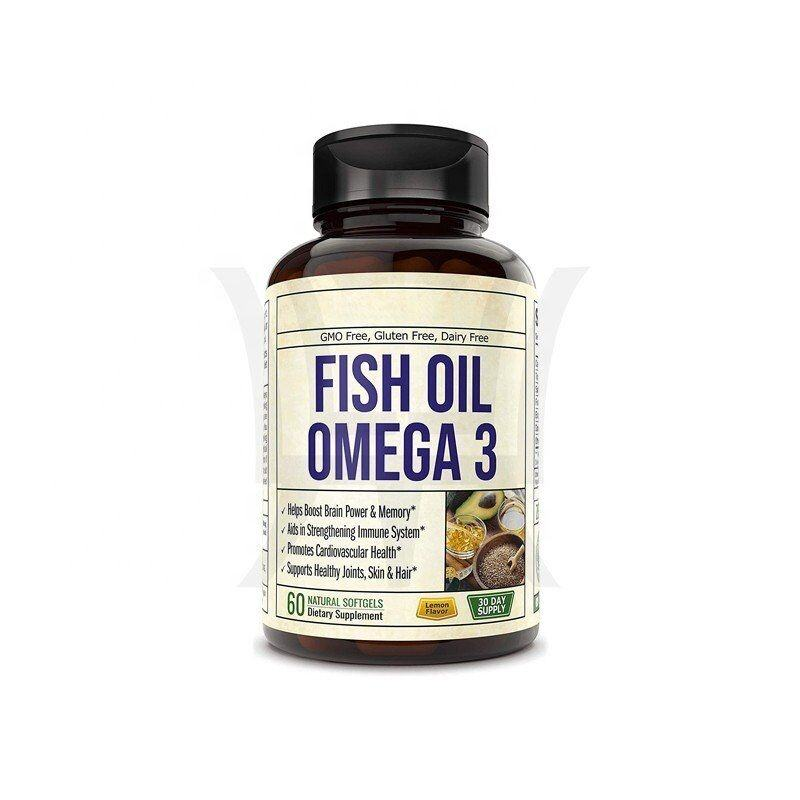 Omega 3 Fish Oil With EPA & DHA Natural Lemon Oil Dairy Free Aids In Strengthening Immune System & Supports Healthy Joints,Skin