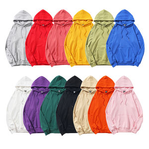 Wholesale men's solid color hoodie 100% cotton custom oversized high quality pullover unisex hooded sweatshirt
