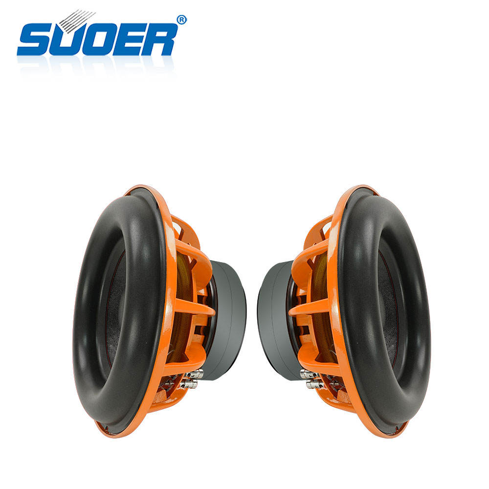 Suoer G-12 high quality 12 inch Dual magnetic aluminum basin holder speaker with 4 ohm 380w rms car audio woofer