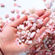 Wholesale Tumbled Stones Polished Gemstone Pink Opal Crystal gravel for Healing