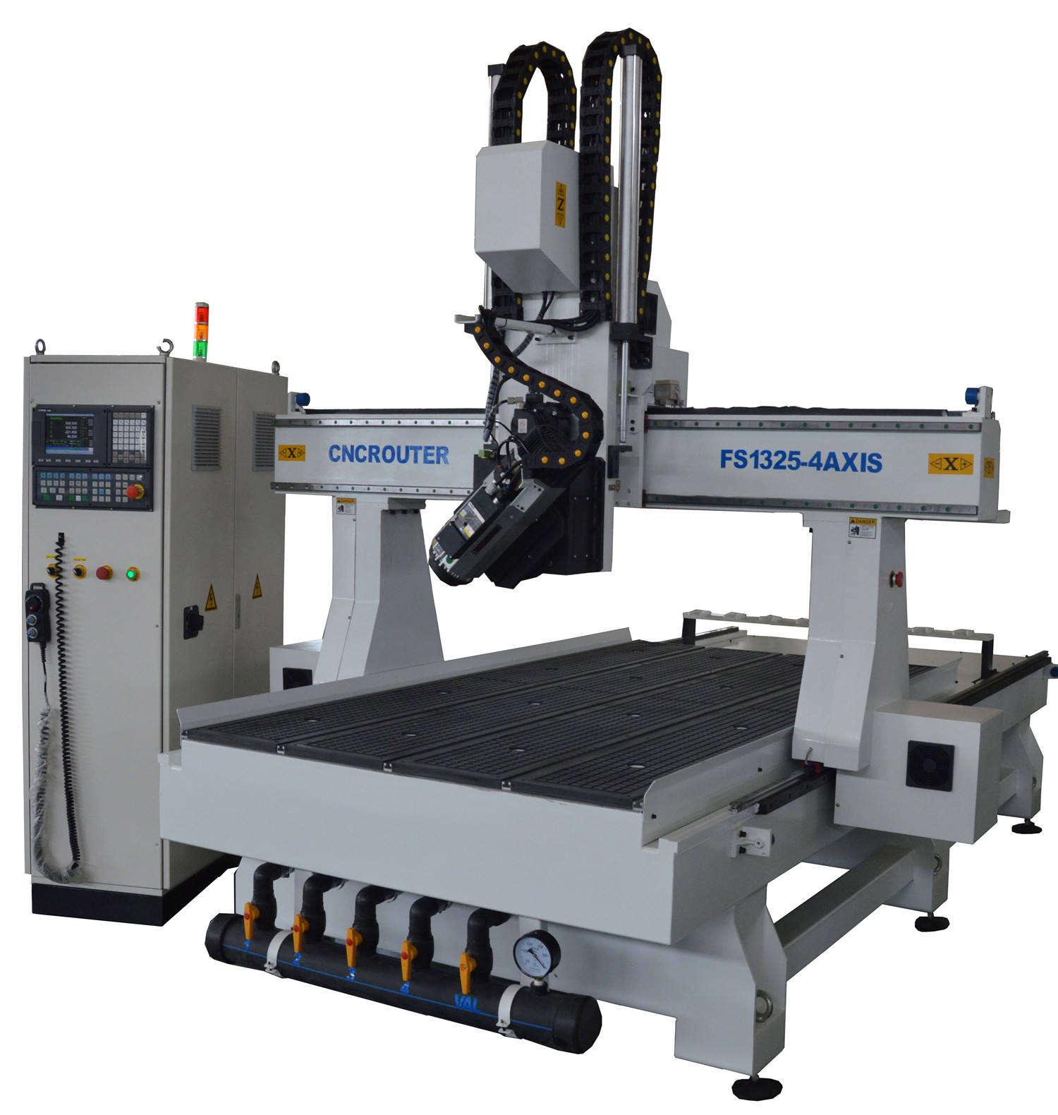 Hot sale! 1325 4D wood CNC Router / China Rotate Italy Spindle 4 axis woodworking CNC machine