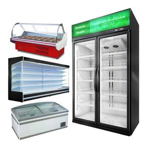 Supermarket Vegetable Meat Seafood Beverage oem Guangzhou Showcase Small Discount Refrigerator